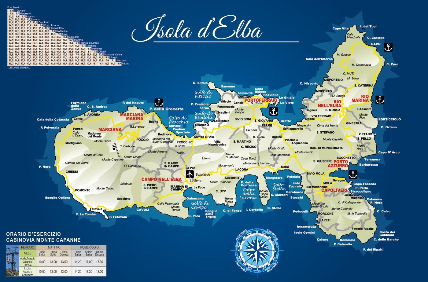 Isola d'Elba mappa